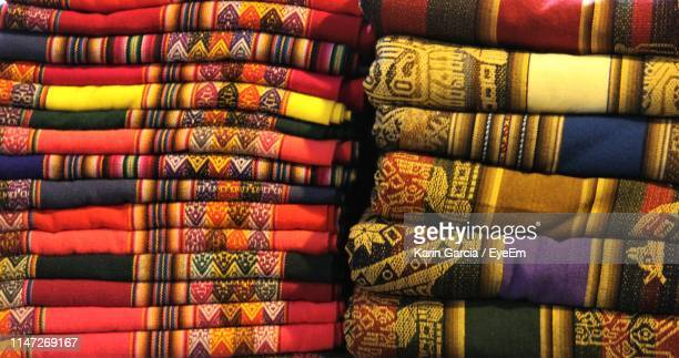 full frame shot of multi colored textiles in store - karin garcia eyeem stock pictures, royalty-free photos & images