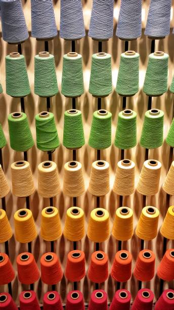 Full Frame Shot Of Multi Colored Thread Spools