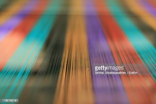 full frame shot of multi colored threads - loom stock pictures, royalty-free photos & images