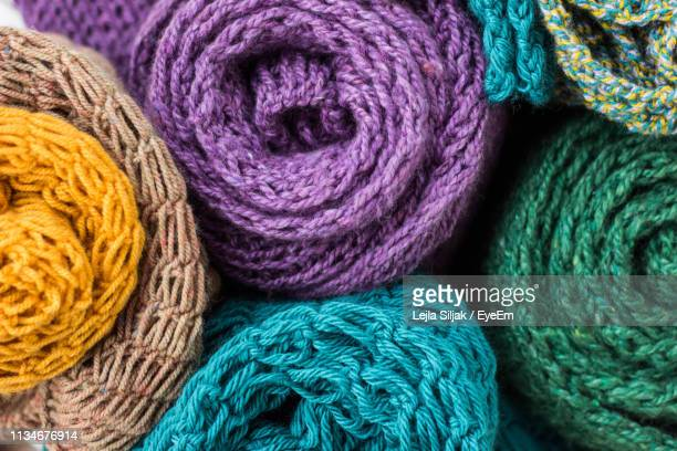 full frame shot of multi colored wool - crochet stock pictures, royalty-free photos & images