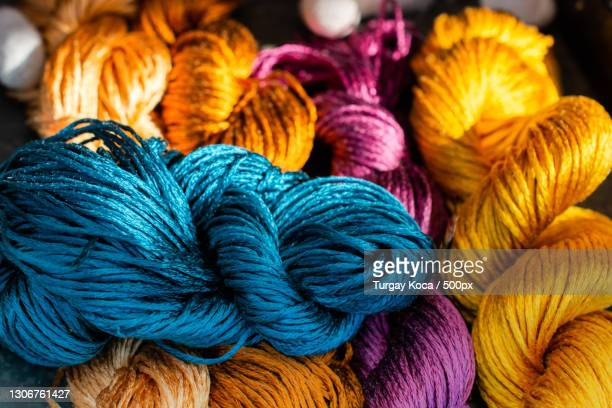 full frame shot of multi colored wool - fabricage apparatuur stock pictures, royalty-free photos & images
