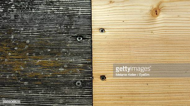 Full Frame Shot Of Old And New Wooden Planks