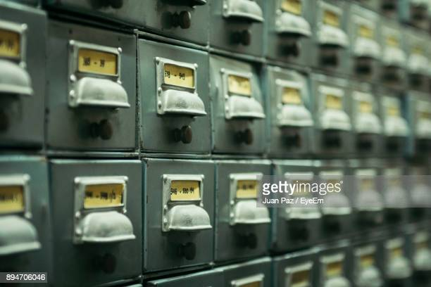 full frame shot of old cabinets - archive stock pictures, royalty-free photos & images