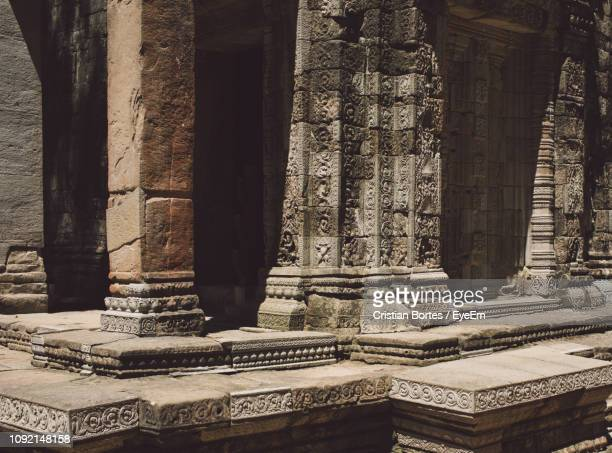 full frame shot of old temple - bortes stock pictures, royalty-free photos & images