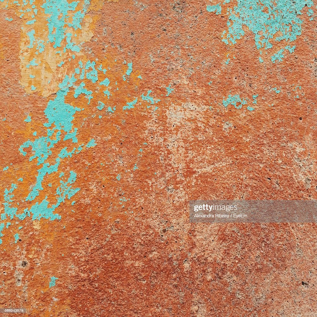 Full Frame Shot Of Old Weathered Wall : Stock Photo