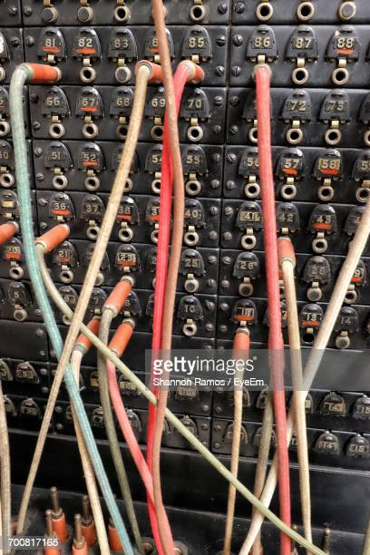 Full Frame Shot Of Old-Fashioned Telephone Switchboard