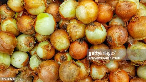Full Frame Shot Of Onions At Market Stall