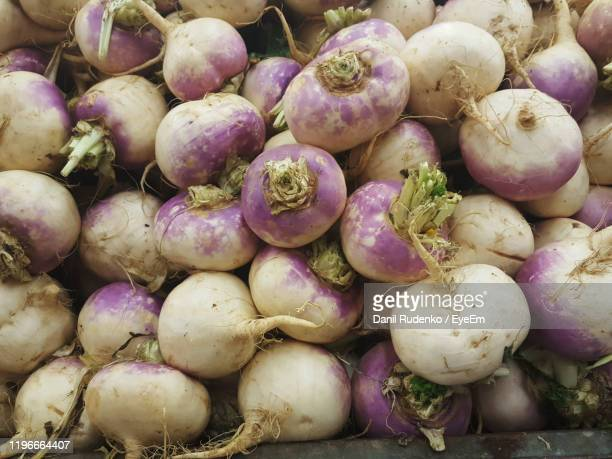 full frame shot of onions for sale at market stall - turnip stock pictures, royalty-free photos & images