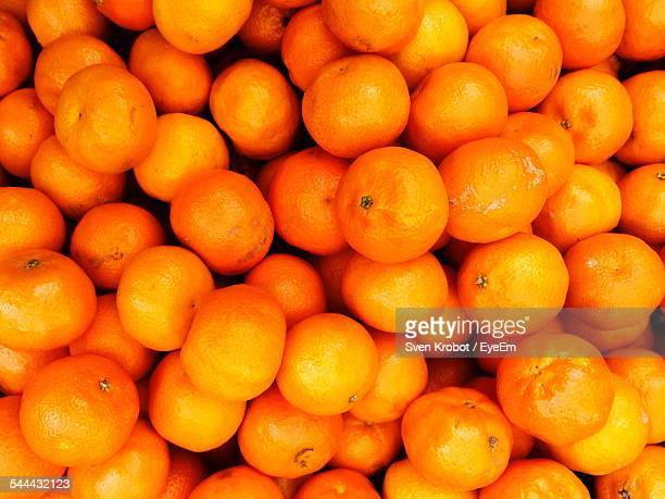 Full Frame Shot Of Orange Fruits