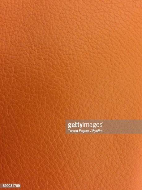 Full Frame Shot Of Orange Leather