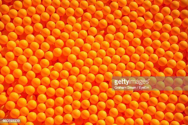 full frame shot of orange table tennis balls - table tennis stock pictures, royalty-free photos & images