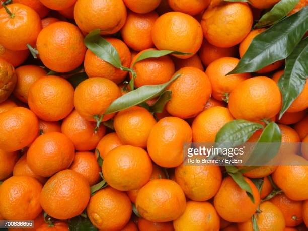 Full Frame Shot Of Oranges At Market For Sale