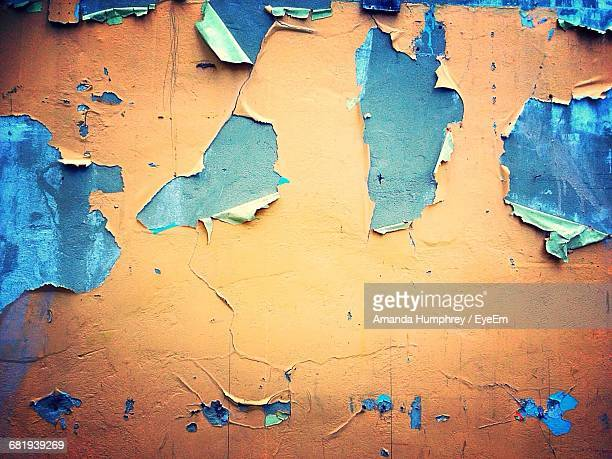 full frame shot of paint peeling on wall - amanda humphrey stock pictures, royalty-free photos & images