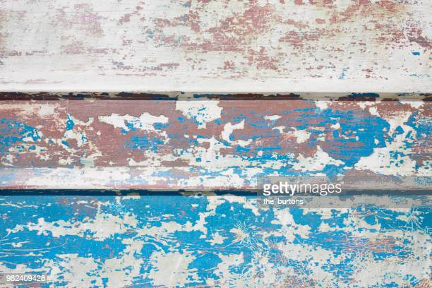 Full frame shot of painted wooden wall