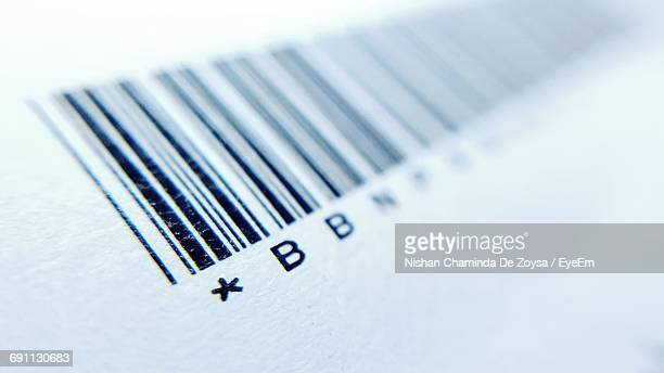 Full Frame Shot Of Paper With Bar Code