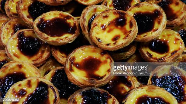 Full Frame Shot Of Pastel De Nata