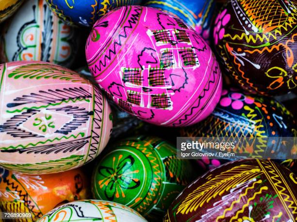 full frame shot of patterned easter eggs for sale - igor golovniov stock pictures, royalty-free photos & images