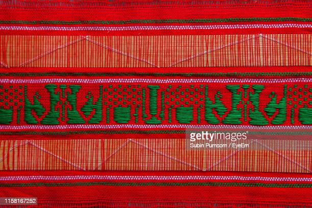 full frame shot of patterned fabric - embroidery stock pictures, royalty-free photos & images
