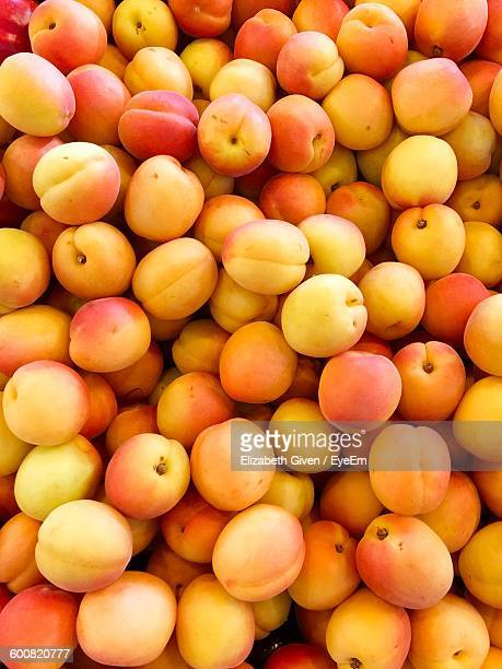 full frame shot of peaches - peach stock photos and pictures