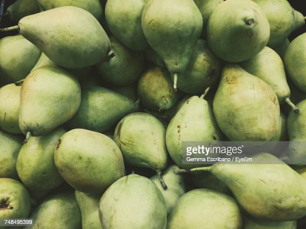 Full Frame Shot Of Pears At Market For Sale