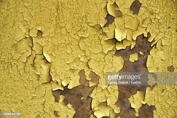 full frame shot of peeled wall - chipping stock pictures, royalty-free photos & images