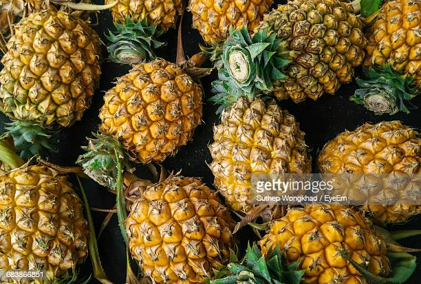 Full Frame Shot Of Pineapples For Sale