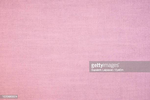 full frame shot of pink fabric - linen stock photos and pictures