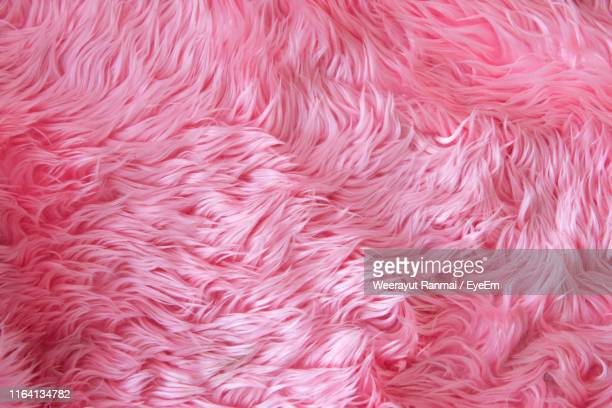 full frame shot of pink fur - fur stock pictures, royalty-free photos & images