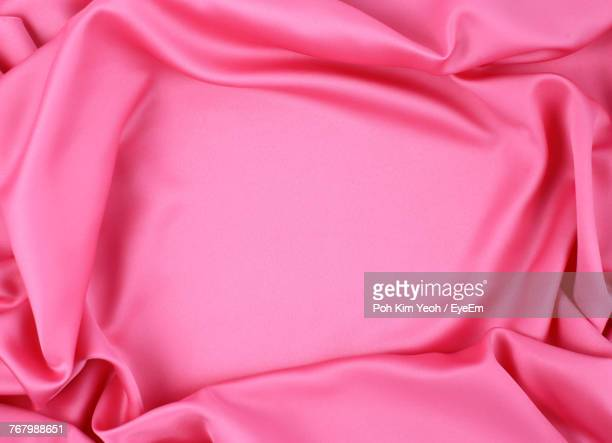 full frame shot of pink satin sheet - silk stock pictures, royalty-free photos & images