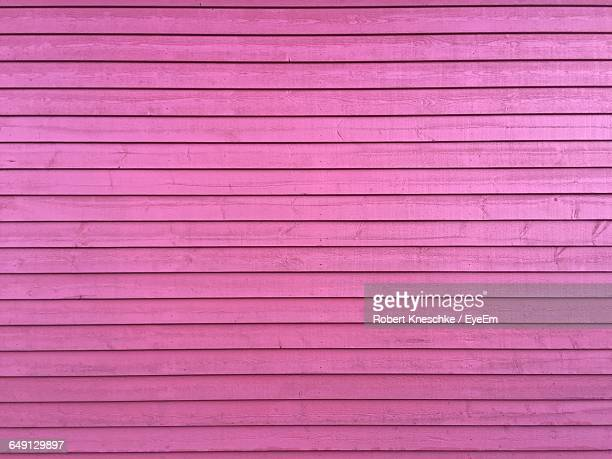 Full Frame Shot Of Pink Wooden Wall