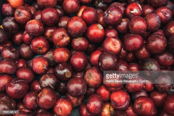Full Frame Shot Of Plums For Sale