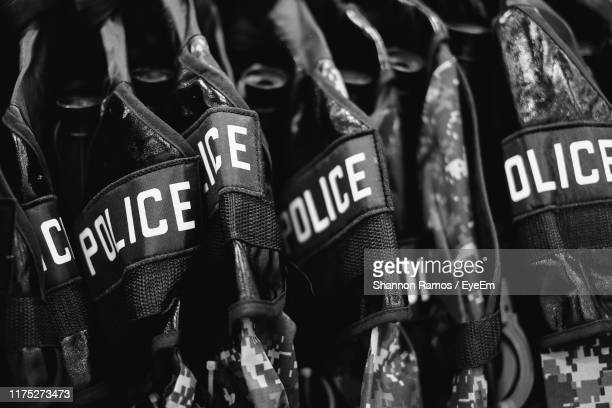 full frame shot of police uniform - police uniform stock pictures, royalty-free photos & images