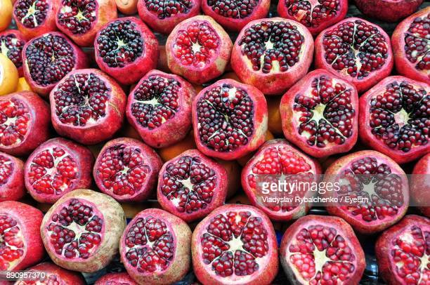 Full Frame Shot Of Pomegranates For Sale At Market