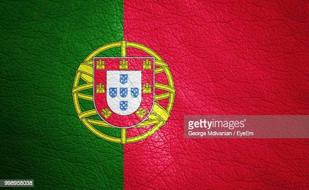 full frame shot of portuguese flag - bandeira de portugal imagens e fotografias de stock