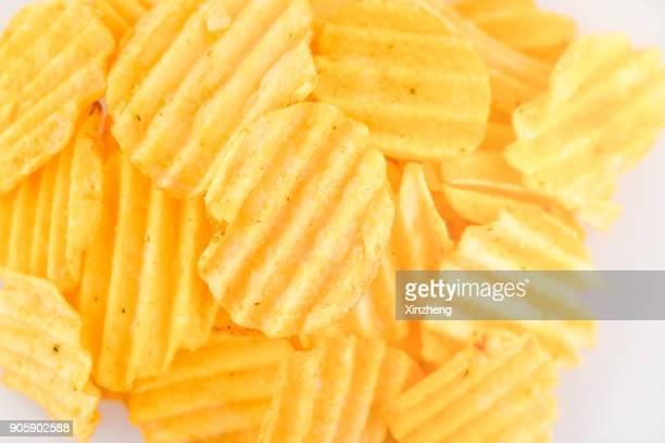 Full Frame Shot Of Potato Chips