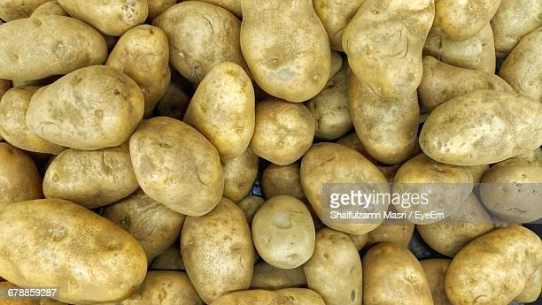 Full Frame Shot Of Potatoes At Market Stall