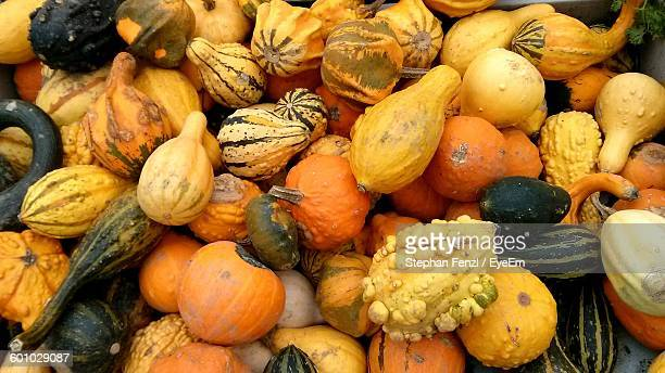 Full Frame Shot Of Pumpkins And Squashes