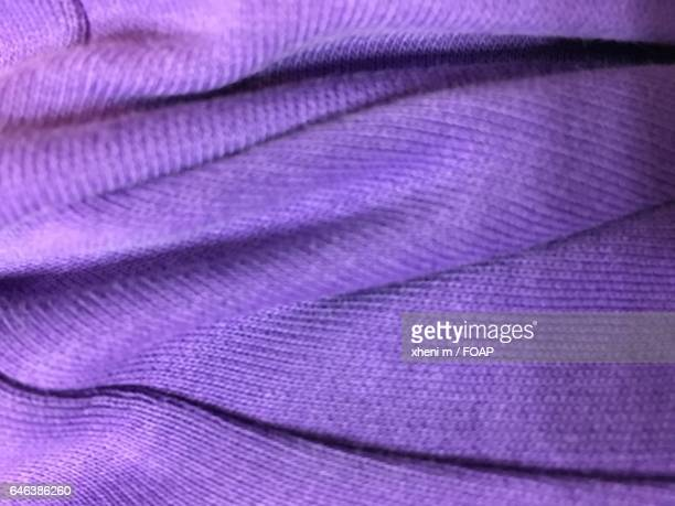 Full frame shot of purple knitted fabric