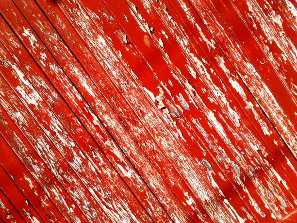 Full Frame Shot Of Red Abstract Background Peeling Paint