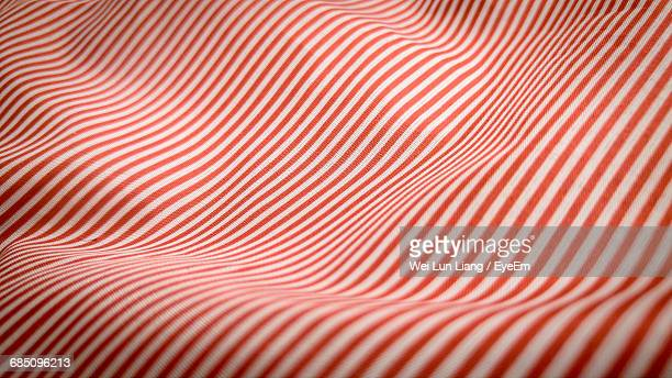 Full Frame Shot Of Red And White Striped Fabric