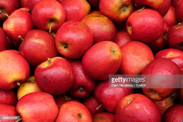 Full Frame Shot Of Red Apples