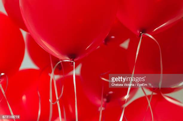 Full Frame Shot Of Red Balloons