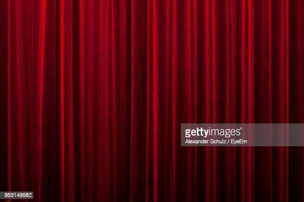 Full Frame Shot Of Red Curtain