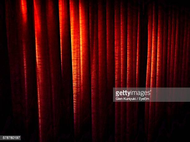 Full Frame Shot Of Red Curtains