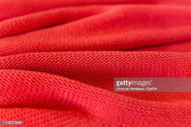 full frame shot of red fabric - wool stock pictures, royalty-free photos & images
