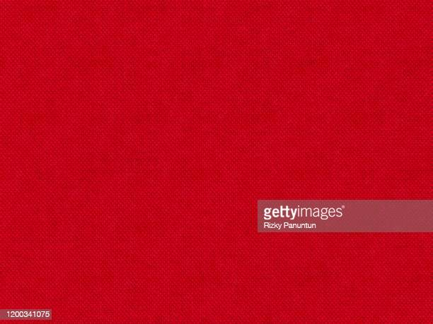 full frame shot of red fabric - 赤 ストックフォトと画像