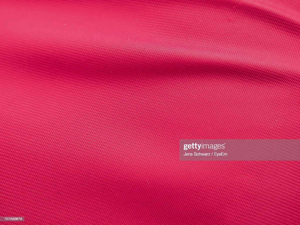 Full Frame Shot Of Red Fabric : Stock Photo