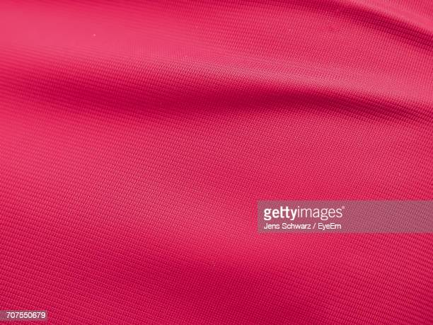 Full Frame Shot Of Red Fabric