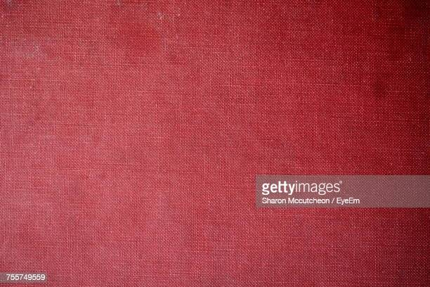 full frame shot of red fabric - linen stock photos and pictures