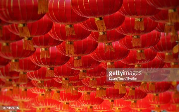 full frame shot of red lanterns - chinese new year stock pictures, royalty-free photos & images